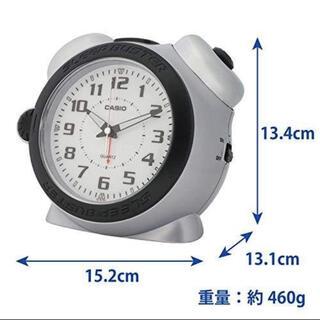 カシオ(CASIO)のカシオ スリープバスター目覚し時計 シルバー(置時計)