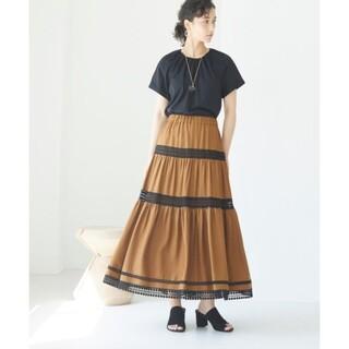 ANAYI - アナイ 今季 リネン風 ティアードスカート