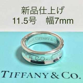 Tiffany & Co. - 【新品仕上げ】Tiffany ティファニー   シルバーリング ナローリング