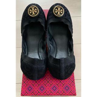 トリーバーチ(Tory Burch)の【美品】トリーバーチ パンプス 靴 24.5 7.5 黒 TORY BURCH(バレエシューズ)