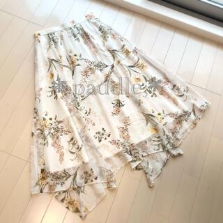 Rirandture - リランドチュール 新品未使用 フラワープリント花柄イレヘムスカート1