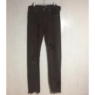 クロムハーツ(Chrome Hearts)のlevis 501  leather cross custom brown(デニム/ジーンズ)