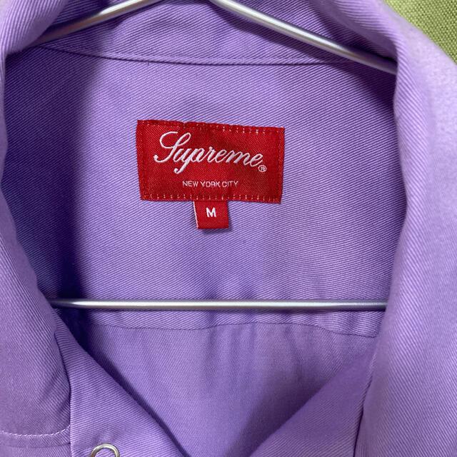 Supreme(シュプリーム)のSupreme Dog S/S Work Shirt M  purple メンズのトップス(シャツ)の商品写真