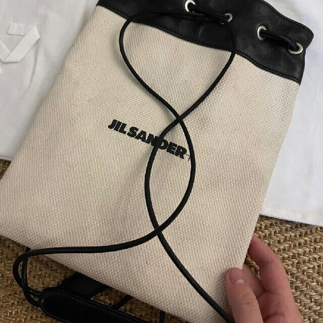 Jil Sander(ジルサンダー)の新品 21SS JIL SANDER ロゴ ミニ ショルダー 巾着 バッグ レディースのバッグ(ショルダーバッグ)の商品写真