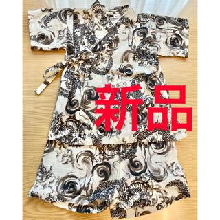 ニシマツヤ(西松屋)のただ今タイムセール 新品 ベビー服 甚平 龍柄 80サイズ (甚平/浴衣)