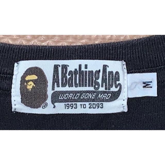 A BATHING APE(アベイシングエイプ)の★大人気★APE 大猿 カレッジロゴ Tシャツ M シャーク kaws メンズのトップス(Tシャツ/カットソー(半袖/袖なし))の商品写真
