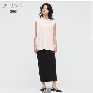 UNIQLO - mame kurogouchi エアリズムコットンスリットスカート ブラックL
