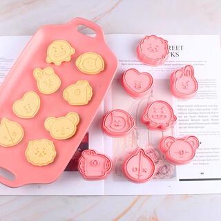 BTS BT21  韓国 可愛いキャラクタークッキー型8点セット