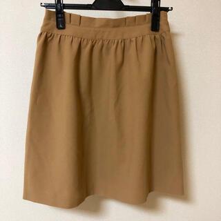 グローブ(grove)のgrove 膝丈スカート S ベージュ グローブ シンプル(ひざ丈スカート)