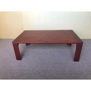 ☆ 送料無料 1台のみ ナラ節入 120cm  超軽量国産折脚テーブル ☆(ローテーブル)