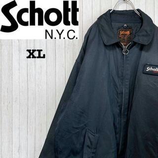 schott - ショット SCHOTT セキュリティージャケット ビッグサイズ ネイビー XL