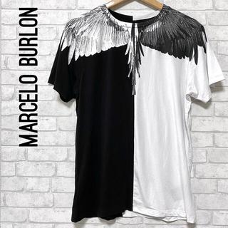 マルセロブロン(MARCELO BURLON)のMARCELO BURLON マルセロバーロン wing 翼 バイカラーTシャツ(Tシャツ/カットソー(半袖/袖なし))