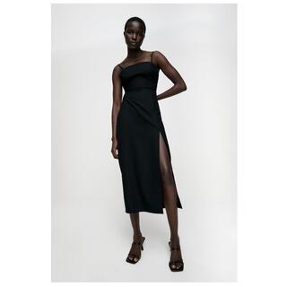 ZARA - 【新品未使用】ZARA ワンピース/チューブドレス ブラック Sサイズ