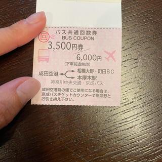 成田空港 バス 回数券 (1回分)(その他)