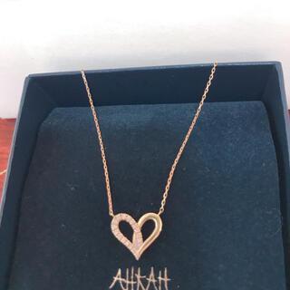 アーカー(AHKAH)のAHKAH フィルージュハートミディ(ハーフ)ネックレス(ネックレス)