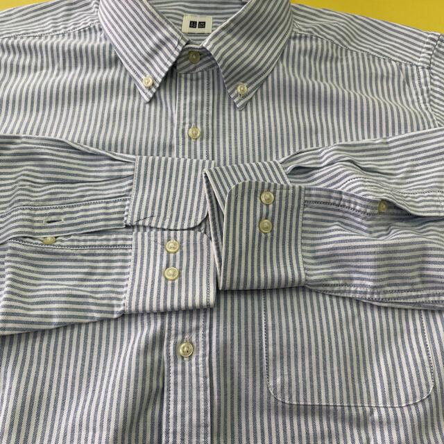 UNIQLO(ユニクロ)のユニクロ オックスフォードボタンダウンシャツ   L、 メンズのトップス(シャツ)の商品写真