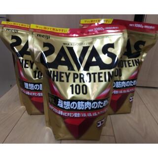 ザバス(SAVAS)の【即発送】ザバス ホエイプロテイン100 ココア味×3袋(プロテイン)