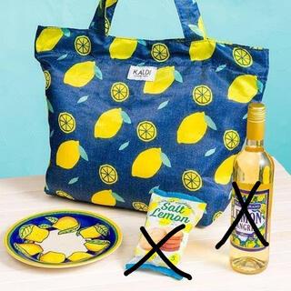 カルディ(KALDI)の【新品未使用】カルディ レモンバッグ&レモン柄陶器皿 エコバッグ トートバッグ(トートバッグ)
