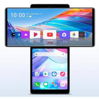 エルジーエレクトロニクス(LG Electronics)の[994] LG Wing 128GB グレイ SIMフリー 2枚重ね画面端末(スマートフォン本体)
