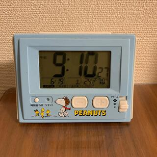 ピーナッツ(PEANUTS)の【PEANUTS】スヌーピー 水色置き時計(置時計)