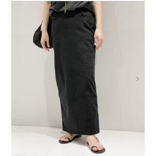 アパルトモンドゥーズィエムクラス(L'Appartement DEUXIEME CLASSE)の新品タグ付き■  AP STUDIO  ウォッシュタイトスカート ブラック 36(ロングスカート)