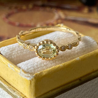 天然モンタナイエローサファイア 天然ダイヤモンド 18金 ソーティング付き