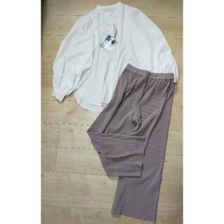 シマムラ(しまむら)のお得セット✩袖コンシャスシャツ+プリーツパンツ(セット/コーデ)