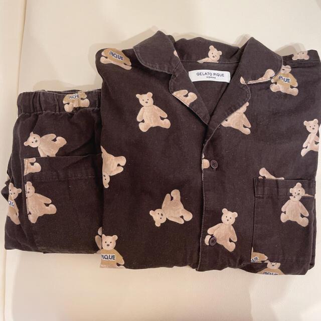 gelato pique(ジェラートピケ)のジェラートピケ HOMME ベアネルシャツ・ロングパンツ レディースのルームウェア/パジャマ(ルームウェア)の商品写真