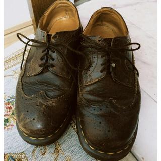 ドクターマーチン(Dr.Martens)のマーチン 5ホール ダークブラウン(ローファー/革靴)