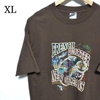 アメリカ古着 フレンチ・クオーター ビッグロゴ オーバーサイズ 半袖 Tシャツ
