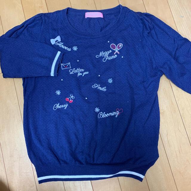 mezzo piano junior(メゾピアノジュニア)のメゾピアノ160ニット キッズ/ベビー/マタニティのキッズ服女の子用(90cm~)(Tシャツ/カットソー)の商品写真