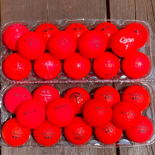 赤色 レッド ゴルフボール GOLF ロストボール 28個セット