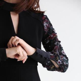 mame - マメ mame 刺繍ワンピース 黒