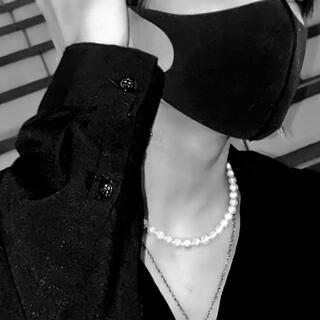 【最終値下げ】【美品】ホワイトパールネックレス チェーンアジャスター付き
