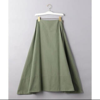 MADISONBLUE - madison blue バックサテンマキシフレアスカート