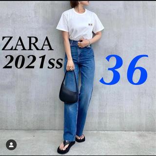 ZARA - ZARA 新品 フルレングス ワイドレッグ ハイライズデニム M アッパーハイツ