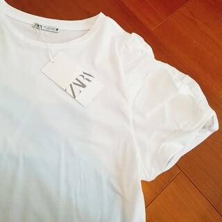 ZARA - 新品未着用☆ZARAザラ 異素材Tシャツ L