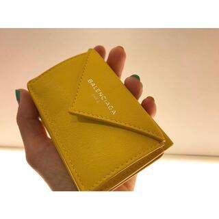 Balenciaga - 未使用正規品 バレンシアガ ペーパーミニウォレット ミニ財布 イエロー