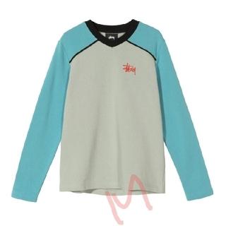 ステューシー(STUSSY)のSTÜSSY / PANEL V NECK【M】(Tシャツ(長袖/七分))
