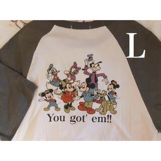 Avail - レトロミッキー Tシャツ アベイル 半袖Tシャツ ミッキー&フレンズ Lサイズ