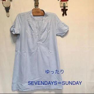 セブンデイズサンデイ(SEVENDAYS=SUNDAY)の感謝sale❤️5980❤️SEVENDAYS SUNDAY❤️ゆったりトップス(シャツ/ブラウス(半袖/袖なし))