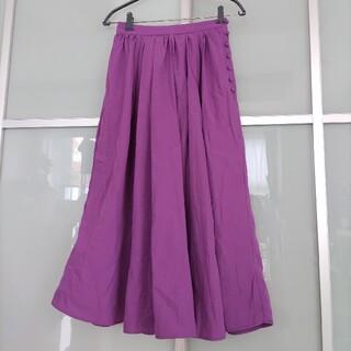 NICE CLAUP - NICE CLAUP スカート パープル 紫 ロングスカート