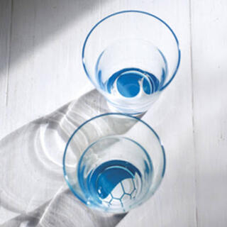 タチキチ(たち吉)のたち吉 鶴亀 ペアグラス 2個セット お酒 ブルー 木箱入り(グラス/カップ)