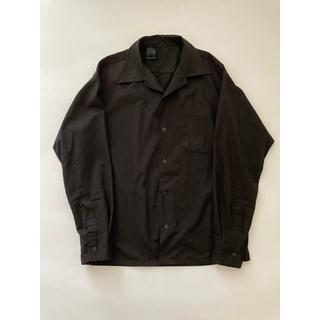 エヌハリウッド(N.HOOLYWOOD)のN.HOOLYWOOD エヌハリウッド オープンカラーシャツ ブラック(シャツ)