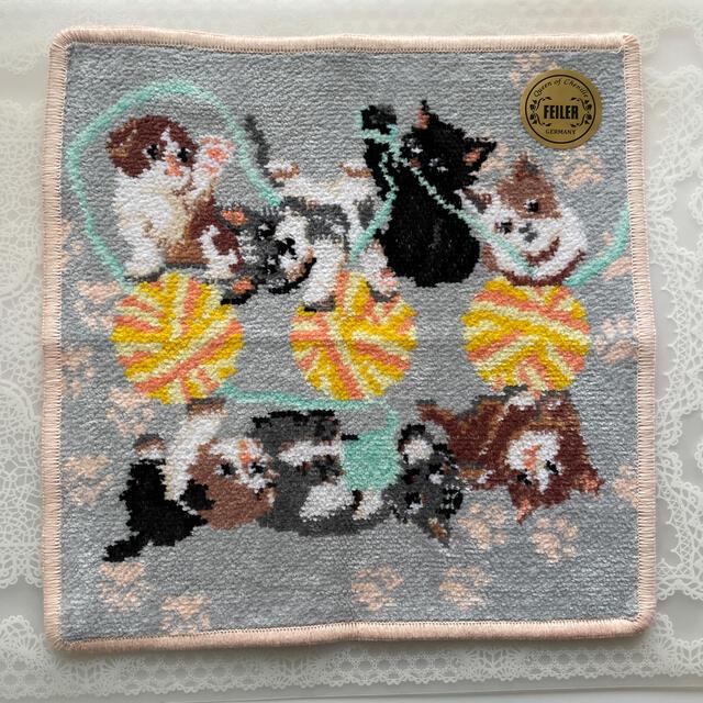 FEILER(フェイラー)の新品  フェイラー  プレイフルキトゥン タオルハンカチ レディースのファッション小物(ハンカチ)の商品写真