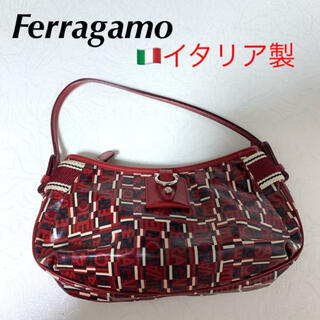 Salvatore Ferragamo - フェラガモ 赤 ミニバッグ ショルダーバッグ ハンドバッグ
