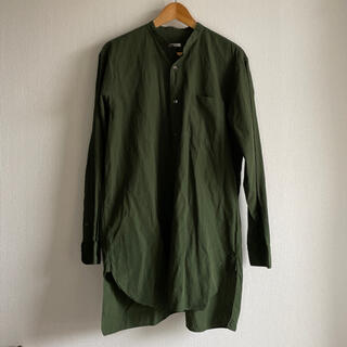 COMOLI - 美品 サイズ2 comoli コモリ バンドカラー シャツ ノーカラー