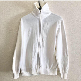 ZARA - ZARA MAN ブルゾン セーター ホワイト 白 メンズL