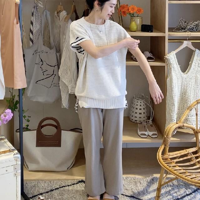 IENA(イエナ)の専用になりました   イエナ 3/60 cotton ニットパンツ レディースのパンツ(カジュアルパンツ)の商品写真