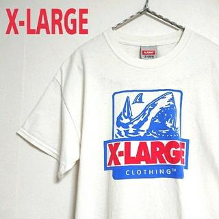 XLARGE - XLARGE エクストララージ ビッグロゴ 白 Tシャツ デカプリント 古着